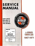 1965-1971 Jeep J-Series Factory Service Manual