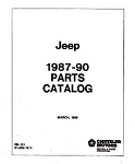 1987-1990 Jeep Factory Parts Book
