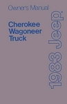 1983 Jeep Cherokee, Wagoneer and J-truck Owners Manual