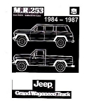1984-87 Jeep Grand Wagoneer and J-Truck Factory Service Manual