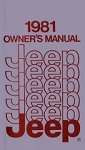 1981 Jeep Owners Manual