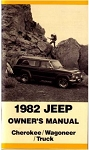 1982 Jeep Cherokee, Wagoneer and J-truck Owners Manual