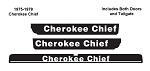 1975-1978 Cherokee Chief Decals