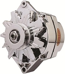 85 amp Powermaster Chrome Finish Alternator 1975-1977 2