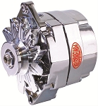 150 amp Powermaster Chrome Finish Alternator 1975-1977 2