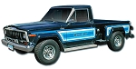 Phoenix Graphix 1981-1983 J-Series Stepside Pickup Honcho Vinyl Decal Set