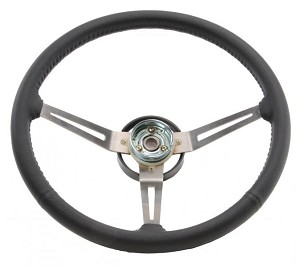 Steering Wheel 3-Spoke Sport Wheel Leather Grip