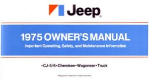 1975 Jeep Owners Manual