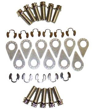 Stage 8 AMC V8 Locking Header Bolt Kit - 6pt Double Hex Head Nickel Plated (3/8-16x3/4 bolts)