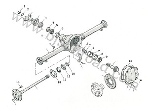 Small Parts for Dana 44 and Dana 53 Rear Axles with Flanged Axle