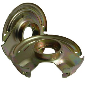 Front Caliper Brackets and Backing Plates Pair