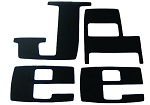Jeep Pickup Tailgate Letters White Vinyl