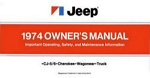 1974 Jeep Owners Manual