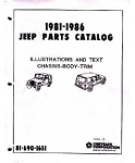 1981-1986 Jeep J-Series Factory Parts Book