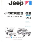 1962-1973 Jeep J-Series Factory Parts Book
