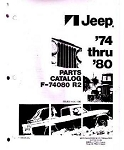 1974-1980 Jeep J-Series Factory Parts Book