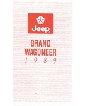 1989 Jeep Grand Wagoneer Owners Manual