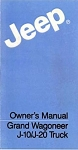 1985 Jeep Grand Wagoneer and J-truck Owners Manual
