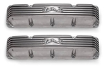 Edelbrock Finned Polished Aluminum Valve Covers AMC V8