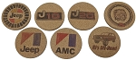 Logo Drink Coasters - J10 - J20 - Cherokee Chief - Jeep - AMC