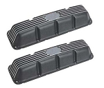 Black Powdercoated Aluminum Valve Covers AMC V8