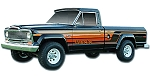 Phoenix Graphix 1979-1980 J-Series Pickup Honcho Vinyl Decal Set