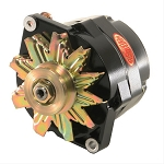 100 amp Powermaster Black Finish Alternator 1966-1975 1