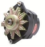 150 amp Powermaster Black Finish Alternator 1966-1975 1