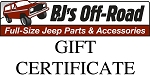 BJ's Off-Road Gift Certificate