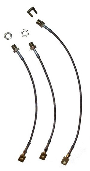 Stainless Steel Brake Line Kit Stock-2 Inch Lift