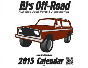 2015 Full-Size Jeep Calendar