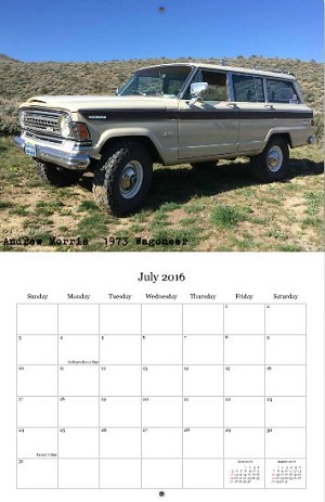 2016 Full-Size Jeep Calendar!