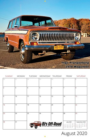 2020 Full-Size Jeep Calendar!