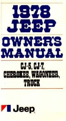 1978 Jeep Owners Manual
