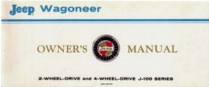 1967-68 Jeep Wagoneer Owners Manual