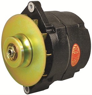 "150 amp Powermaster Black Finish Alternator 1975-1977 2"" Mount"