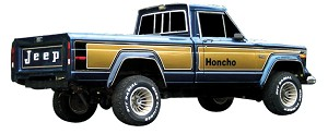 Phoenix Graphix 1976-1978 J-Series Pickup Honcho Vinyl Decal Set