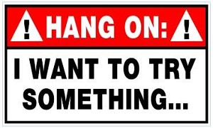 Hang On Sticker