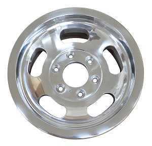 1974-1979 Stock 5-Slot Hole Wheels Polished Finish